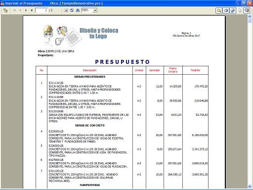 formatos de presupuestos
